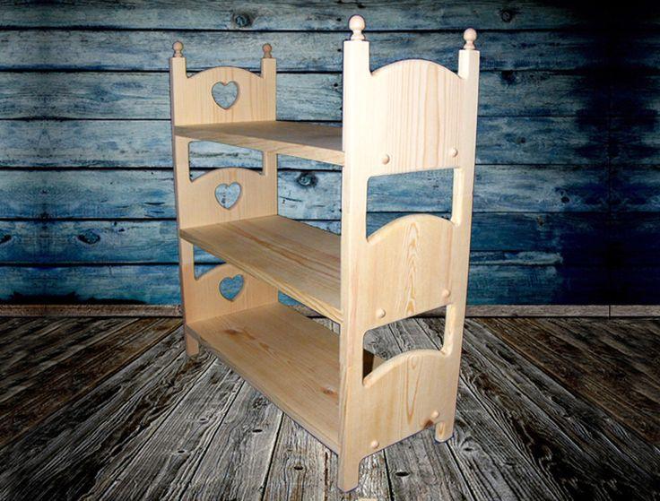 Triple stapelbed voor 18 20 inch poppen 3 stapelbare houten bedden met decor van het meubilair - Loft bed met opbergruimte ...