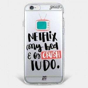 Capinha para celular Netflix e My Bed