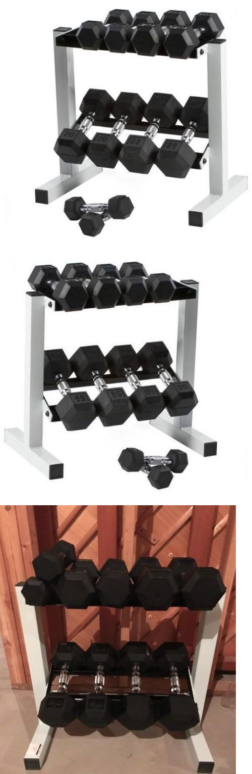 Dumbbells 137865: Black Rubber Weight Lifting 10 Dumbbell Gym Set Rack Lot 5-25 Lb Pairs 150 Lbs -> BUY IT NOW ONLY: $174.95 on eBay!