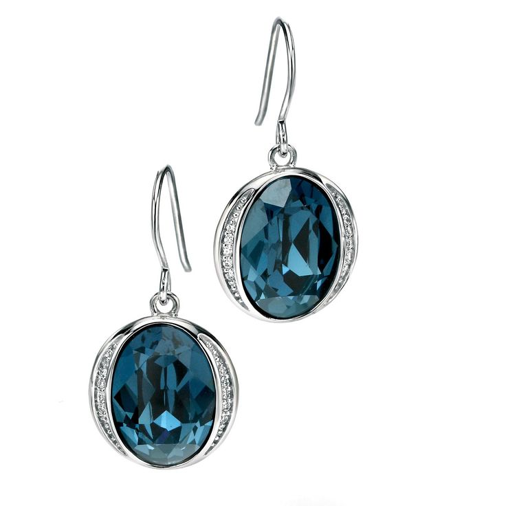 Fiorelli Deep Blue Sterling Silver Earrings - yourgifthouse