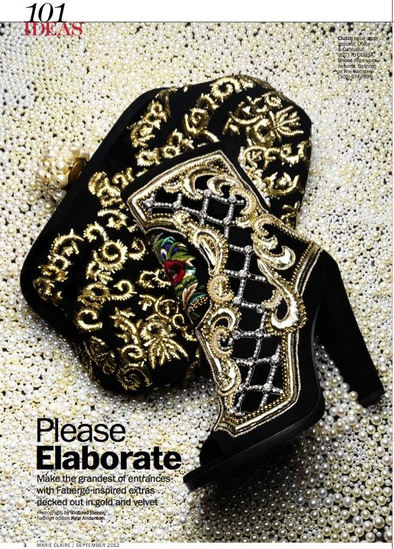 Balmain and Gabbana, you can't be no baroque joke strutting with these hot accessories. Black and Gold-Hot faves of mine.  Google Image Result for http://www.kyleeditor.com/wp-content/uploads/2012/08/Baroque.jpg