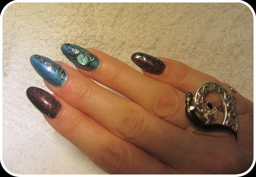 Gel foil painting, A England: whispering Wawes, Color Club: Fierce