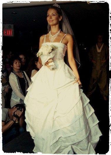 Beautiful wedding dress made by student designer Toronto. XPOSED Fashion Show 2007.