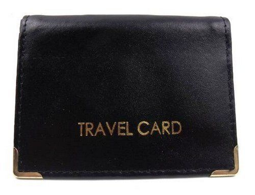 Bus-Pass-Card-Holder-Wallet-ID-Travel-Train-Case-Soft-Leather-Wallets-Black