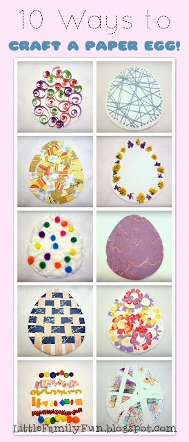 10 fun and easy Easter Egg Crafts!: Crafts Ideas, Egg Crafts, Easter Crafts, Crafts Kids, Kids Crafts, Easter Eggs, Eggs Crafts, Families Fun, Paper Eggs