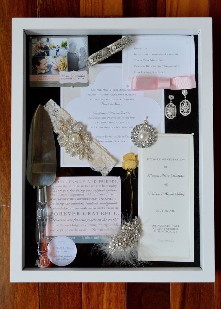 724 South House | Our Big Day Displayed: DIY Wedding Shadow Box