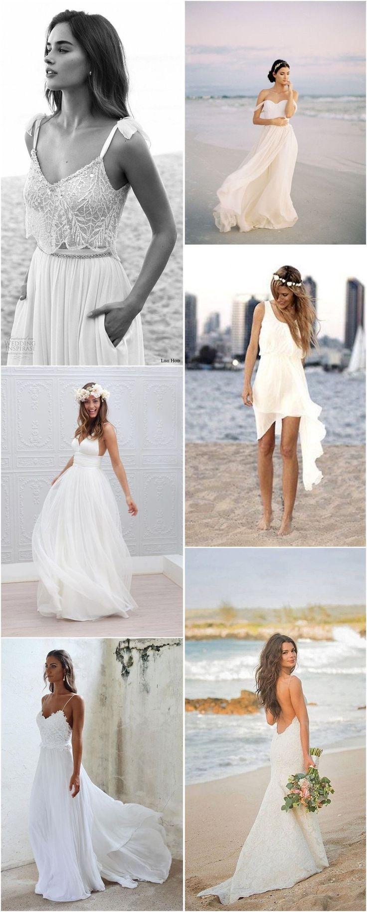 Beach Wedding Dresses » Top 22 Beach Wedding Dresses Ideas to Stand You out » ❤️ See more: http://www.weddinginclude.com/2017/04/top-beach-wedding-dresses-ideas-to-stand-you-out/ #weddingdressideas