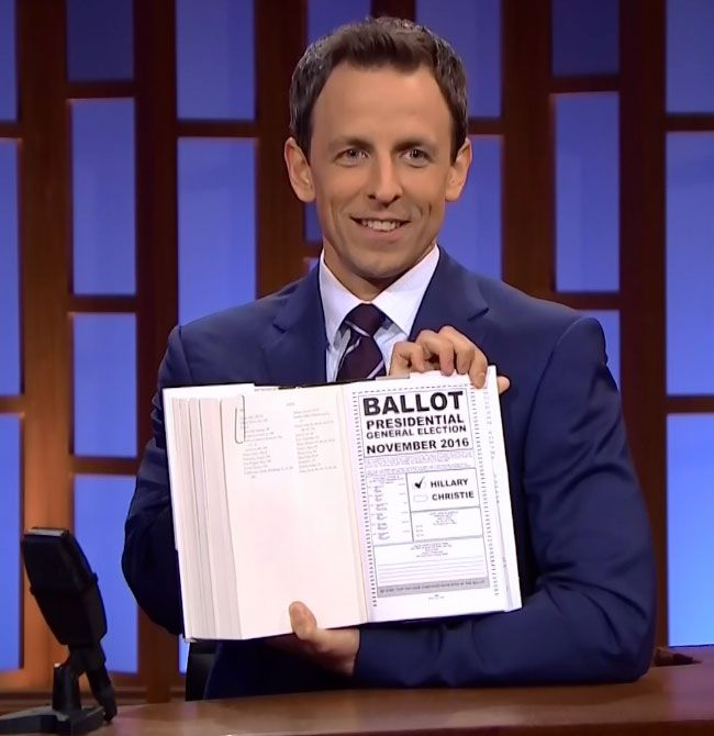 Seth Meyers reads between the lines of Hillary Clinton's book:    Hillary Clinton hasn't announced her intention to run for president but he dropped some not-so subtle hints in her new book Hard Choices. Late Night host Seth Meyers got an advance copy and pointed to some telling passages.   #funny #tv #latenight #politics #Clinton2016  http://l7world.com/2014/06/seth-meyers-reads-lines-hillary-clintons-book.html