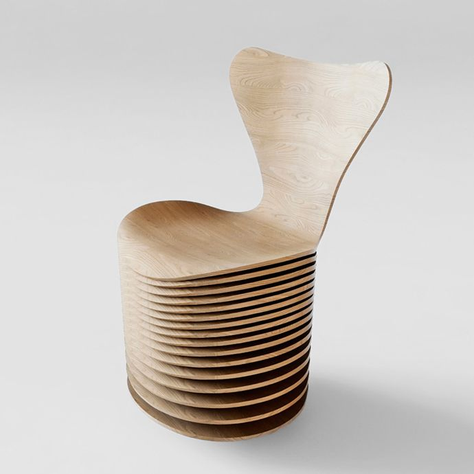 BIG's Reinterpretation Of Arne Jacobsen's Series 7 Chair