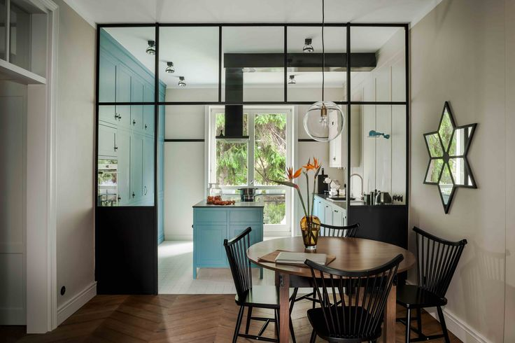 Saska Kepa interiors, blue kitchen