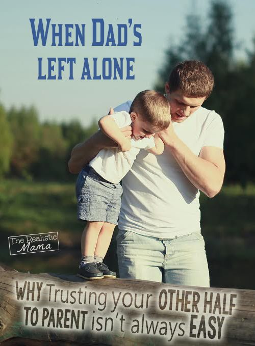 Learning to Let Go and Trusting Dad to Parent Too. Trusting the Other Half Isn't Always Easy. Trying to control how and when things are done, he is missing out, not only on the experience, but the confidence in himself and his parenting. Plus it also teaches kids flexibility, acceptance and trust. GREAT READ to get you thinking! #parenting