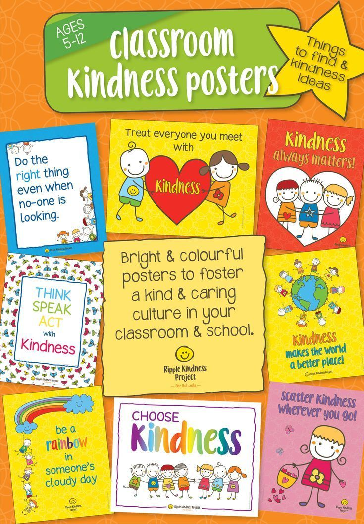 Kindness Curriculum Shown To Improve >> These Cute Display Posters Will Fill Your Classroom With Bright And