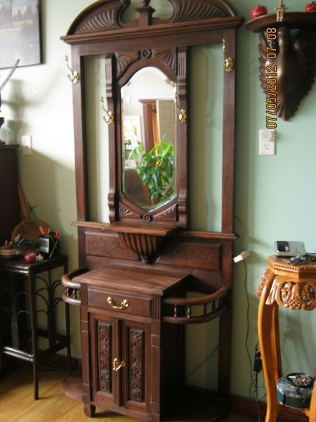 Elegant Antique Hall Tree With Umbrella Stand   Google Search · Foyer  FurnitureAntique ...