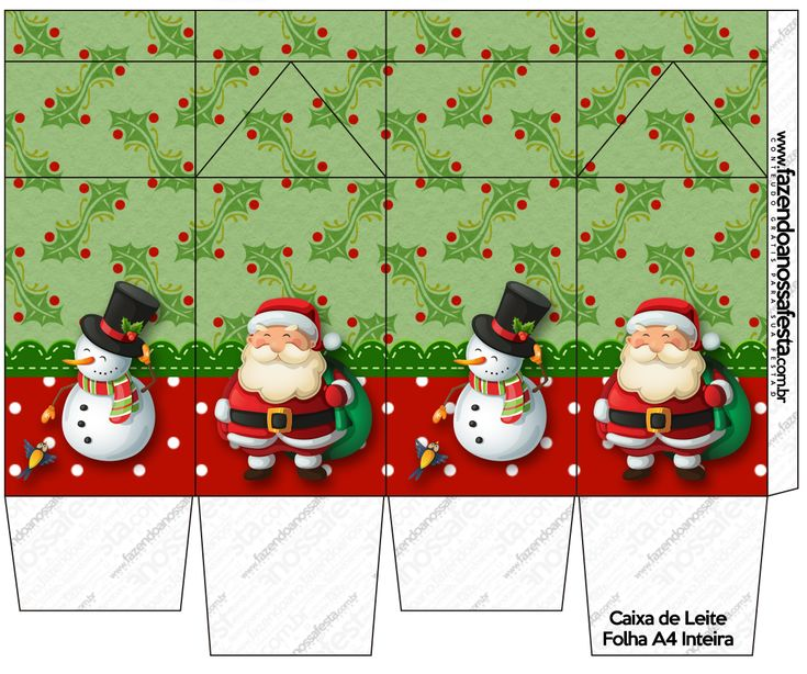 Free gift box templates for christmas