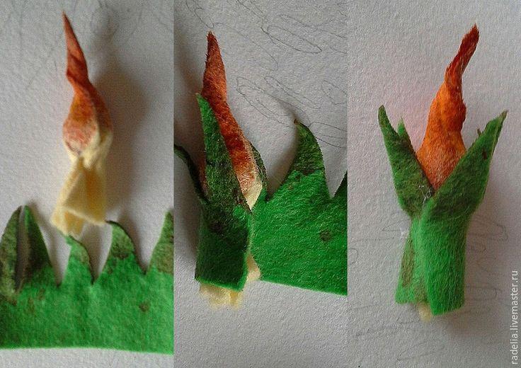 Предлагаю вам свой мастер-класс по созданию декоративного панно из фетра. Материалы и инструменты: 1. Фетр (листовой шерстяной): - зеленый; - белый; - светло-желтый; - коричневый; - светло-зеленый тонкий синтетический фетр для фона . 2. Краска для батика: - темно-зеленая; - краплак(или рубиновая); - желтая (можно тонировать фетр акрилом). 3. Тычинки белые для искусственных цветов. 4.