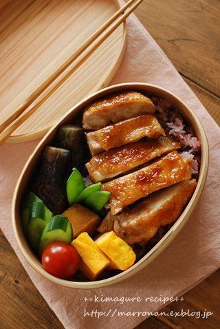 Japanese Teriyaki Chicken Bento Lunch|鶏照り焼き弁当