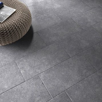 Carrelage int rieur en gr s c rame maill loggia gris for Carrelage clipsable leroy merlin