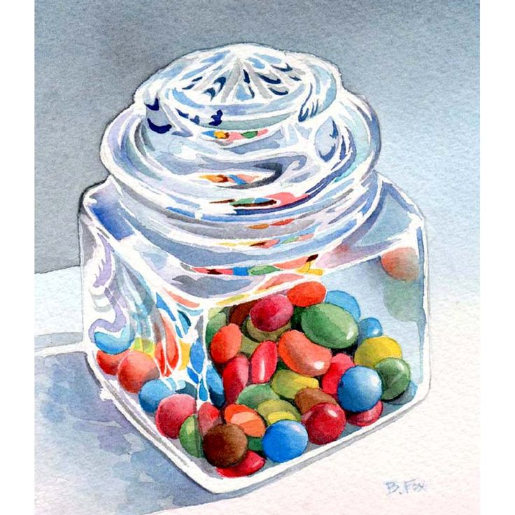 Contemporary Watercolor Artists | ... Contemporary Fine Art International: CANDY DISH still life watercolor