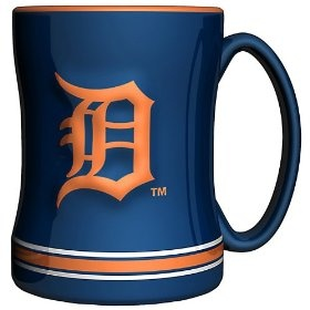 MLB Detroit Tigers 15-Ounce Sculpted Relief Mug