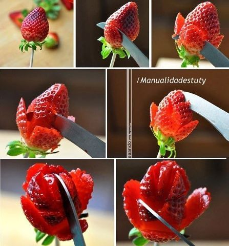 DIY Strawberry Flower | Crafts Tutorials Blog - Ideas For Crafts