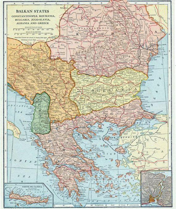 24 best Vintage Balkan Maps images on Pinterest  Vintage maps