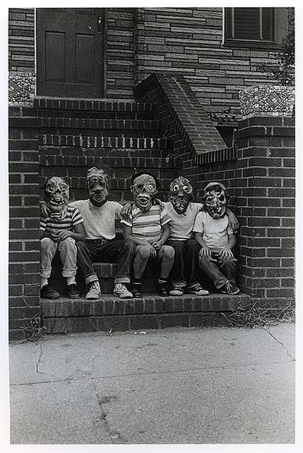 Arbus, Diane (1923-1971) - 1961 Five Members of the Monster Fan Club, NYC, via Flickr.