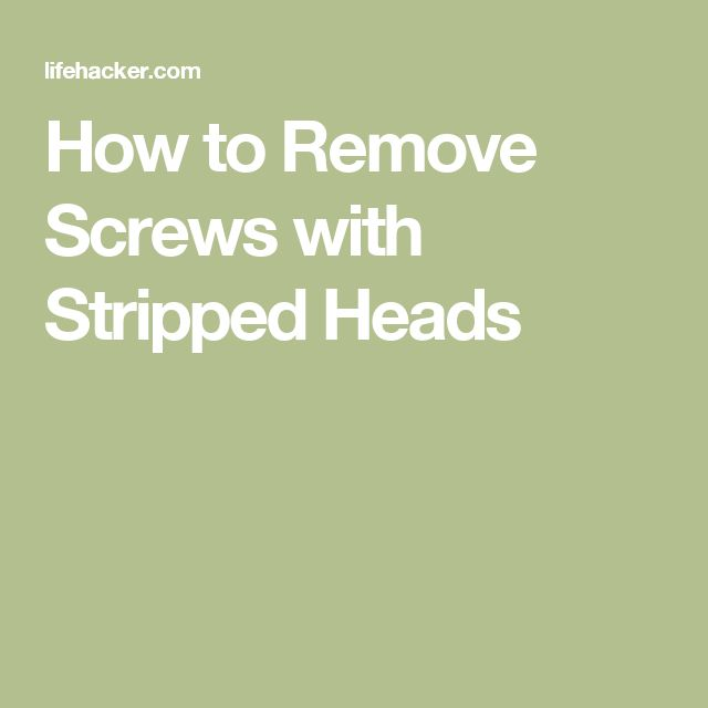 9 best removing screws images on pinterest how to remove remove stripped screw and diy. Black Bedroom Furniture Sets. Home Design Ideas