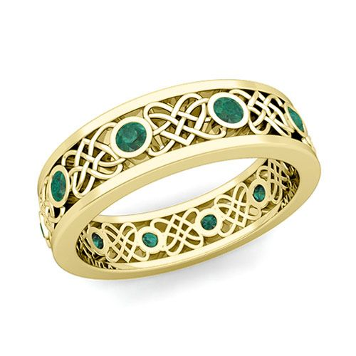 men's celtic heart wedding rings