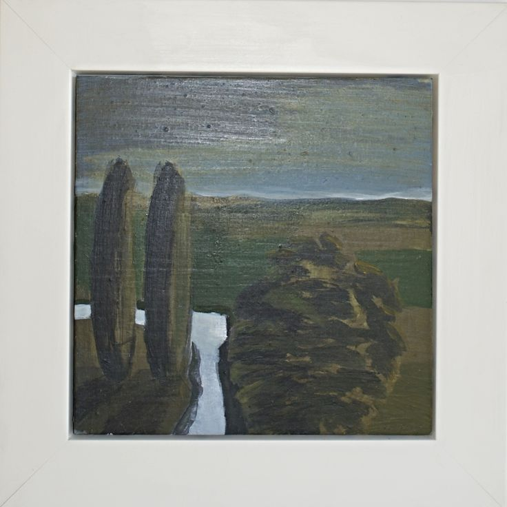 Poplars and stream - Hawkes Bay lanscape