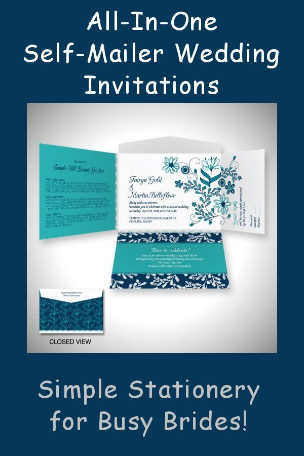 Our all-in-one self-mailer wedding invitations make stationery ...