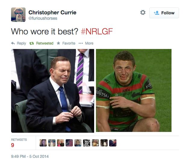 Sam Burgess is a British forward, whose last game for the Rabbitohs was tonight. | This Photo Perfectly Encapsulates How All South Sydney Supporters Feel Right Now