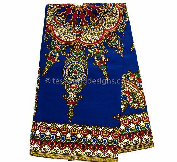 DS12 - Wholesale Royal blue Dashiki Fabric - Star