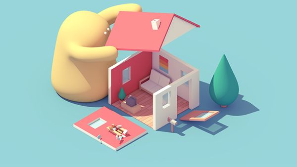 House & Monster on Behance