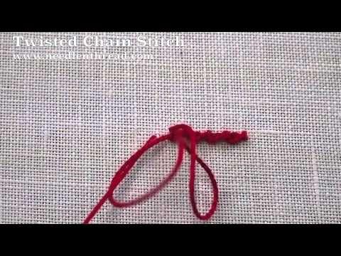 ▶ Twisted Chain Stitch - YouTube