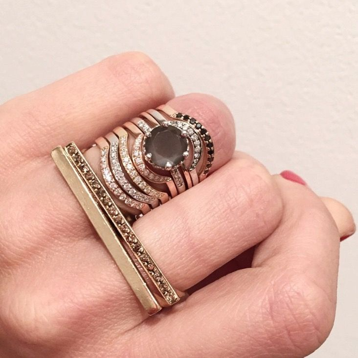 how to wear wedding band with engagement ring