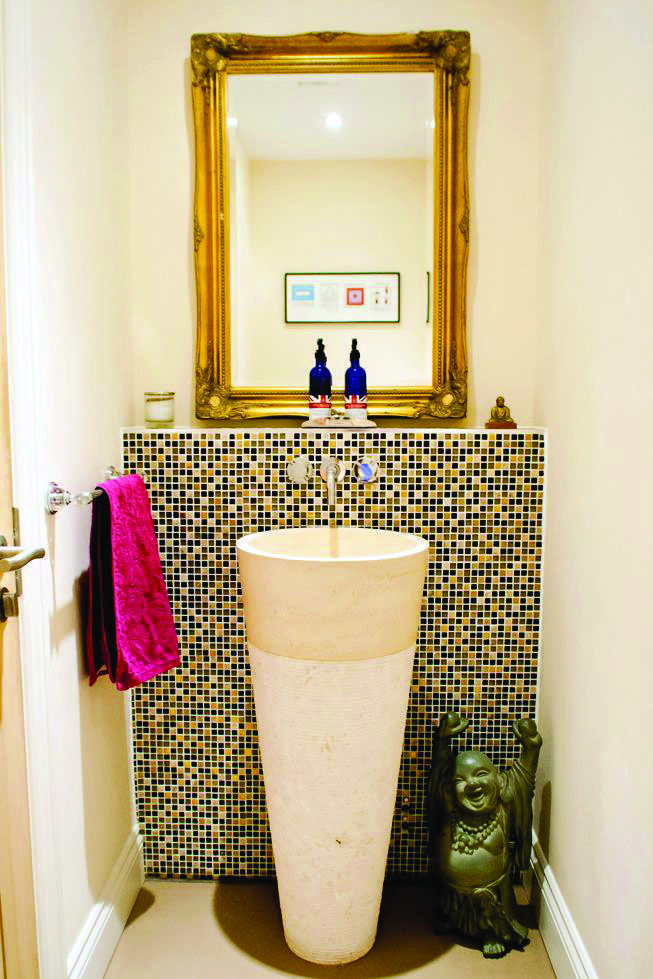 Homeeideas Com Faux Brick Wallpaper Bathroom Ideas Uk Patterned Floor Tiles