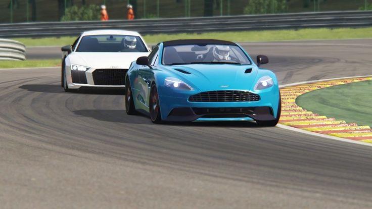 Battle Audi R8 V10 Plus vs Aston Martin Vanquish V12 Racing at Spa-Franc...