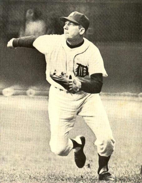 """Al Kaline played his entire 22-yr career with the Detroit Tigers, becoming known as """"Mr. Tiger."""" He won 10 Golden Glove Awards, played in 15 All-Star Games, was the first Tiger to have his number (6) retired, and in 1980, became only the 10th player in history to be voted into the Baseball Hall of Fame in his first year of eligibility."""