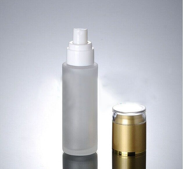 37.5$  Watch here - wholesale 60ml frosted glass empty cosmetics container ATOMIZER w press pumps mist sprayer & gold lid PERFUME bottle 50pcs/lot   #magazineonline