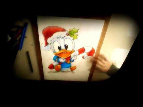 Dibujo de Pato Donald Bebe (Navidad) - YouTube