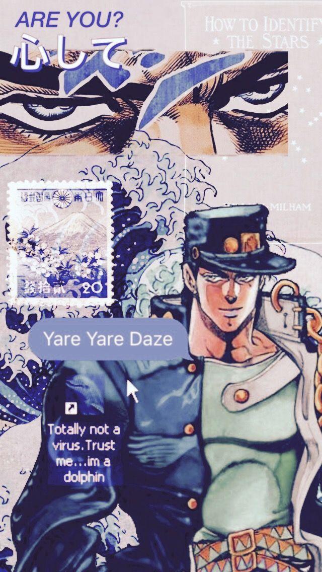 Jotaro Kujo Wallpaper Jojo Anime Jojo Bizarre Jojo Bizzare Adventure Aesthetic jojo wallpaper iphone