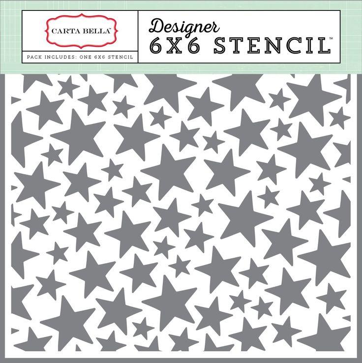 ECHO PARK Paper Carta Bella Papier Company Sterne Schablone, 6x 6: Amazon.de: Küche & Haushalt