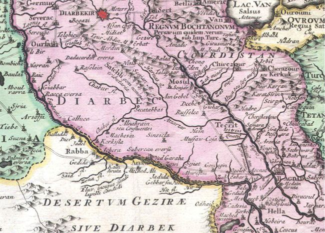1730 Persia Historical Map Sample