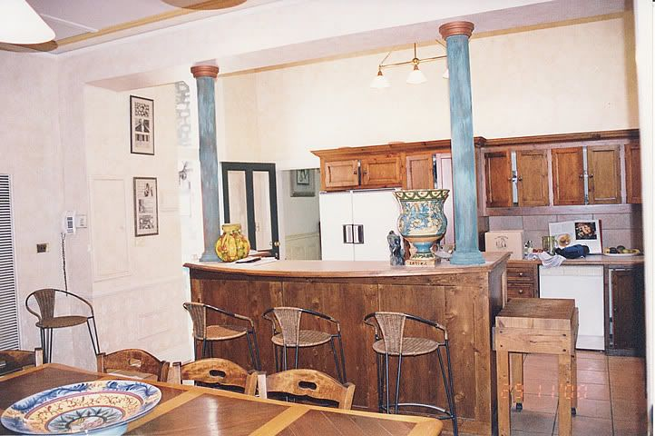kitchen islands designs with pillars | ll go ahead and