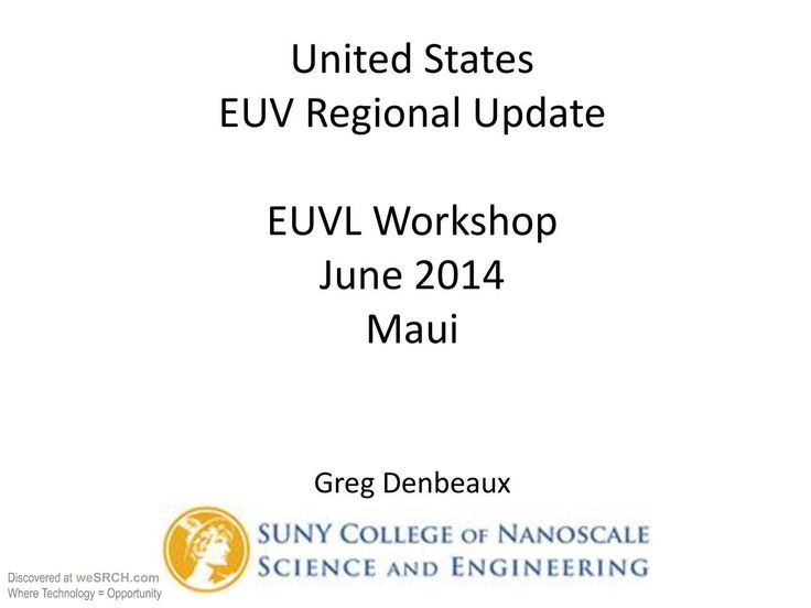 #EUV status in the #United_States