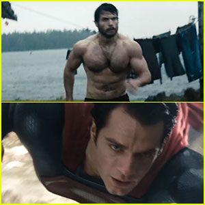 Henry Cavill: Shirtless 'Man of Steel' Trailer!