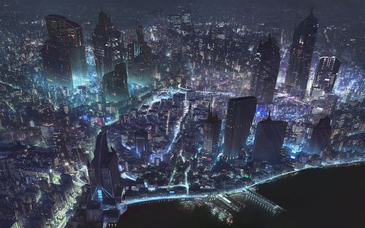cyberpunk city world map klaus pillon more artwork cyberpunk cyberpunk ...
