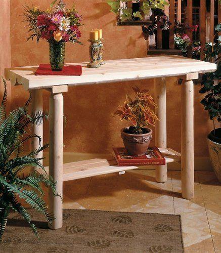Rustic Natural Cedar Furniture Cedar Sofa Table Console Table By Rustic  Natural Cedar Furniture. $177.24