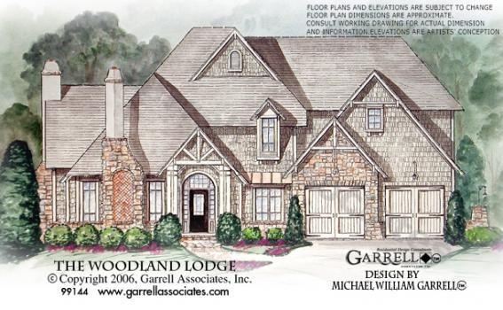Woodland Lodge House Plan 99144 Garrell Associates Inc Woodland Lodges Craftsman Style House Plans House Plans