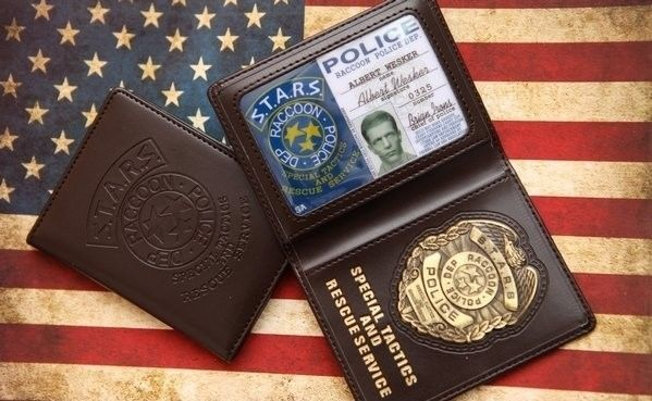 movie resident evil agent badge id wesker police wallet holder case from $27.99